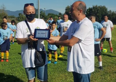 premiazione partita di calcio